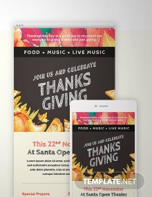 Free Thanksgiving Email Template