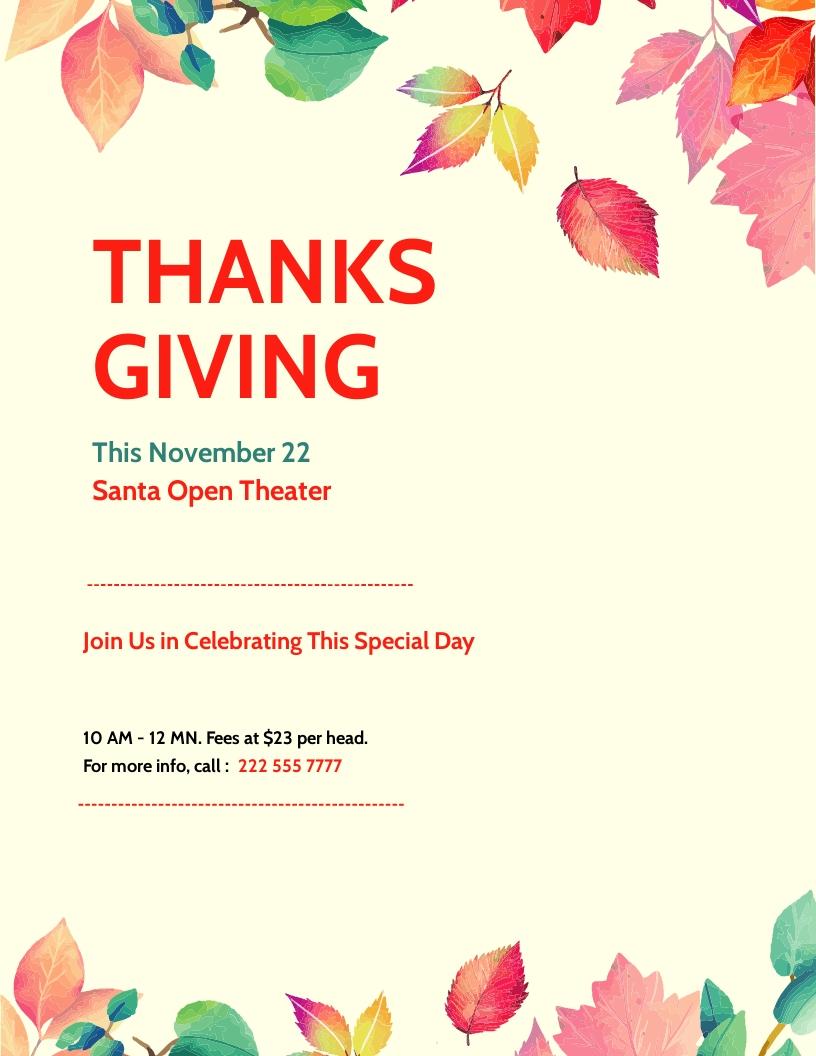 Thanksgiving Flyer Template.jpe