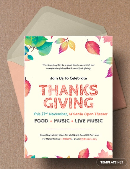 Free Thanksgiving Invitation Template