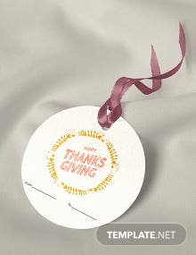 Free Thanksgiving Label Template