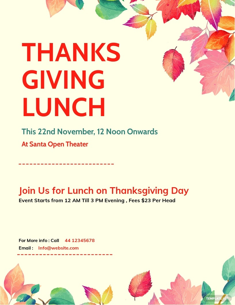 Thanksgiving Lunch Flyer Template