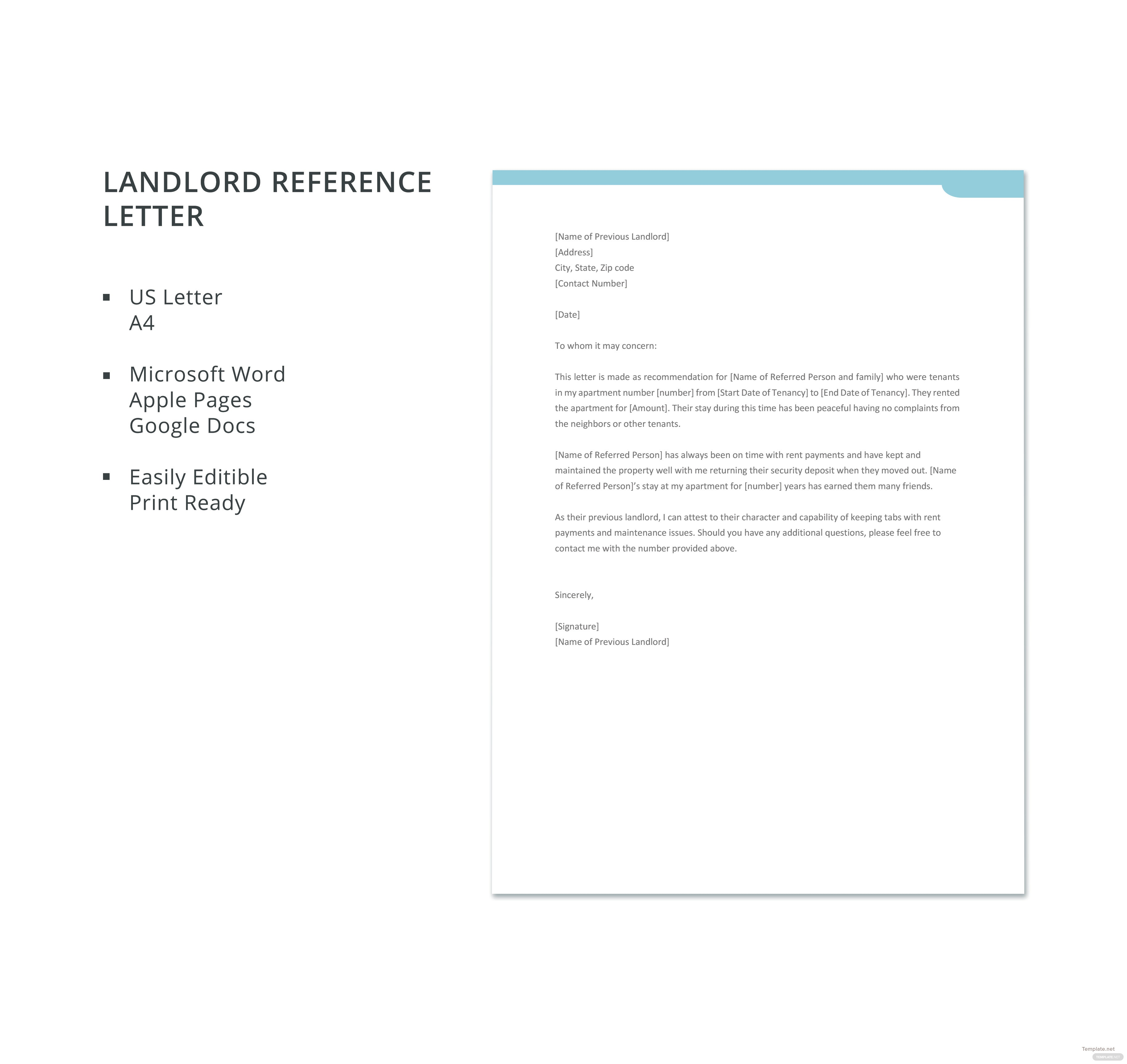 Free landlord reference letter template in microsoft word apple free landlord reference letter template spiritdancerdesigns Image collections