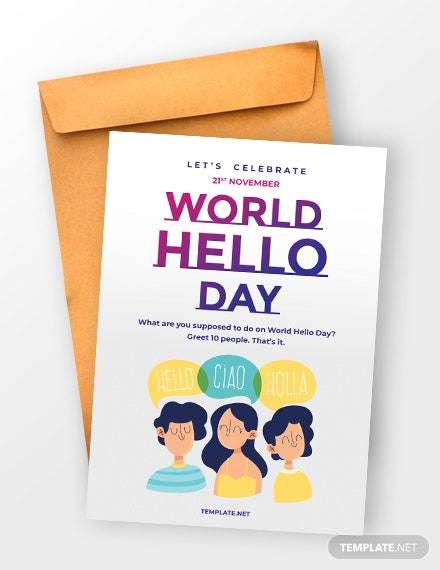 World Hello Day Greeting Card