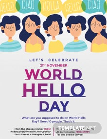 World Hello Day Poster