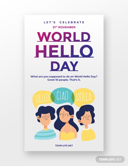 World Hello Day Whatsapp Image