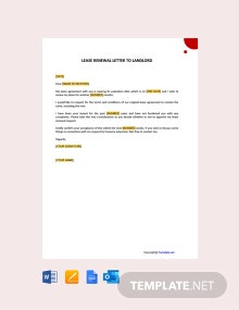 Free Lease Renewal Letter to landlord