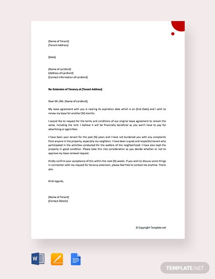 free lease renewal letter to landlord template download 700