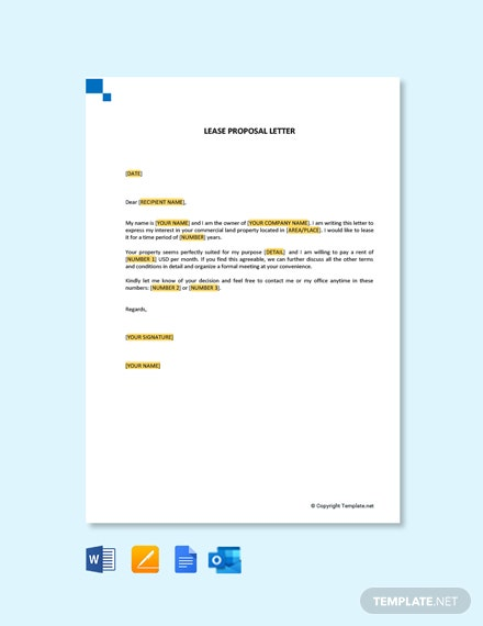 Free Lease Proposal Letter