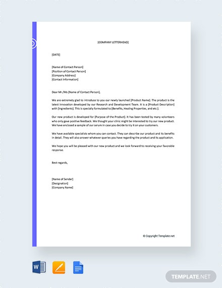 Free New Product Proposal Letter