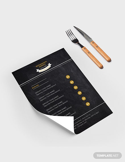 Chalkboard Blank Menu Download