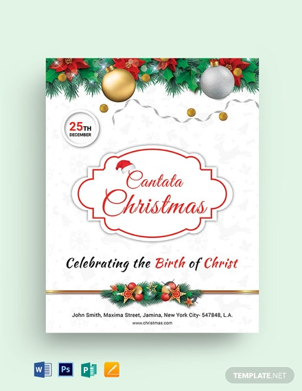 Free Christmas Church Flyer Template