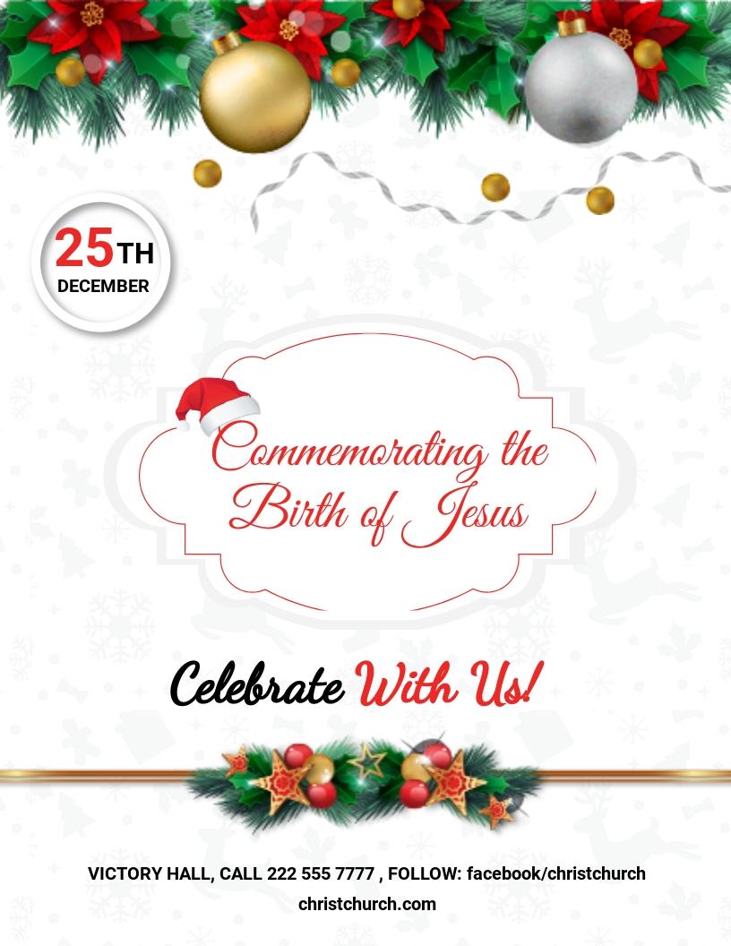 Free Christmas Church Flyer Template