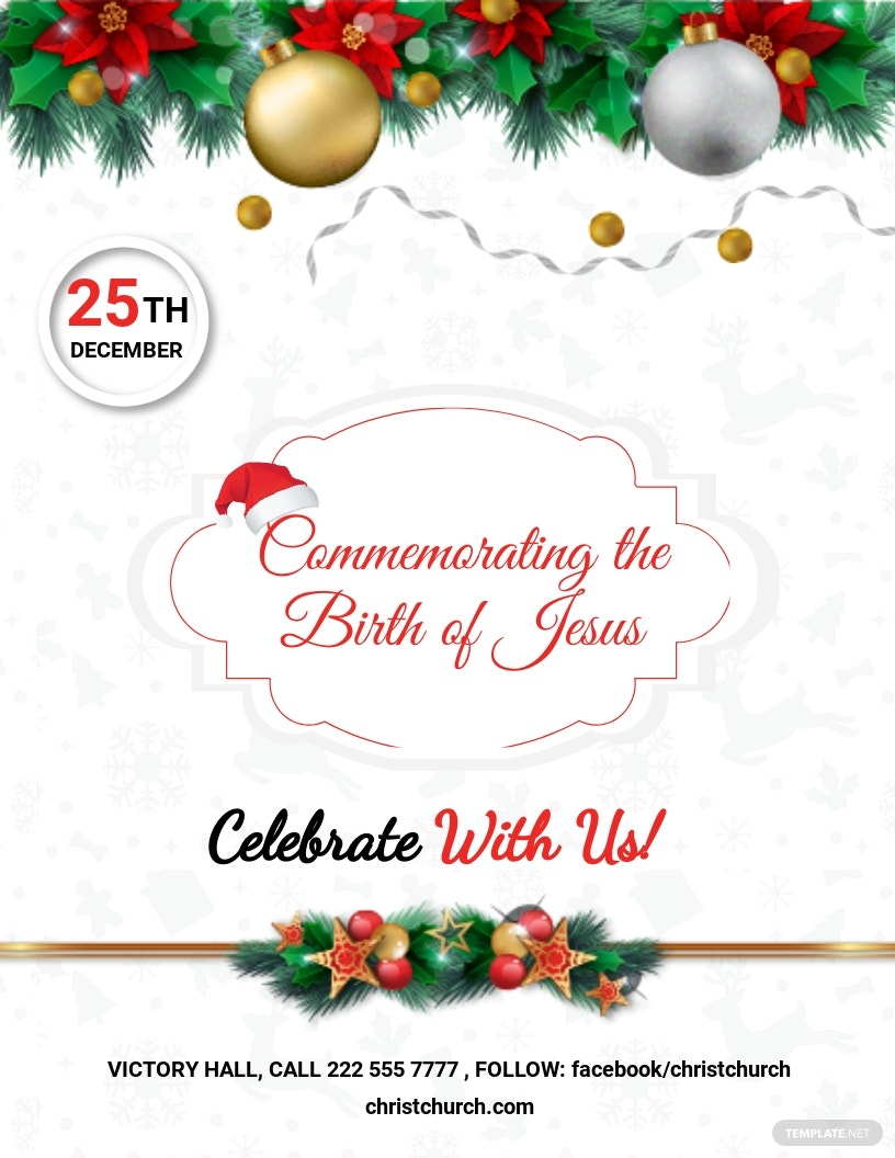 Christmas Church Flyer Template