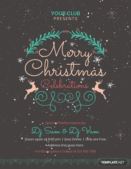 Free Chalkboard Christmas Flyer Template