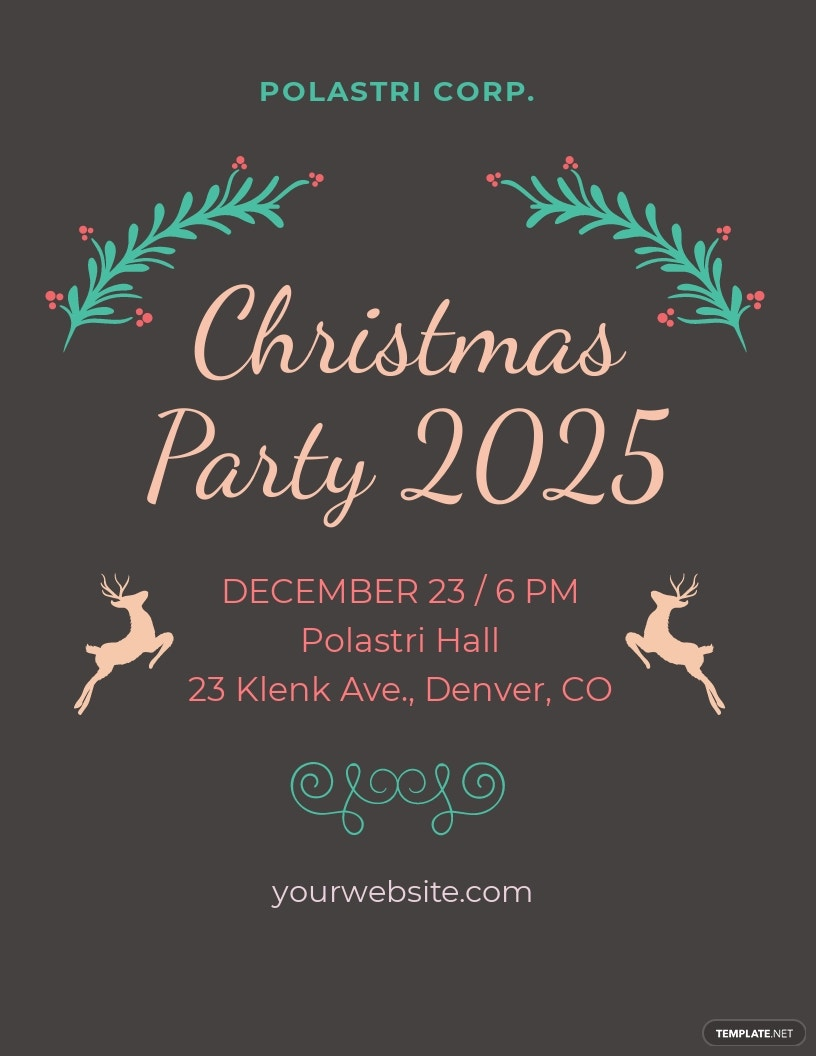 Chalkboard Christmas Flyer Template.jpe