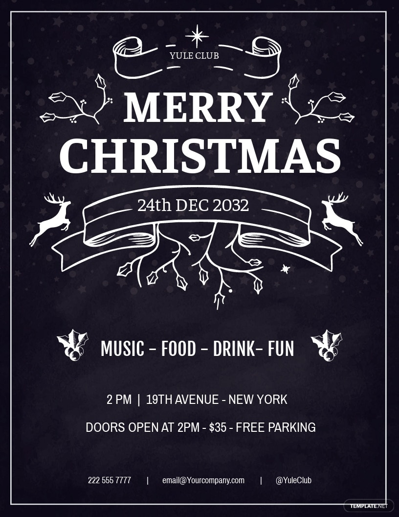 Minimal Christmas Flyer Template