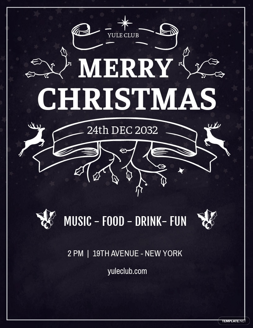 Minimal Christmas Flyer Template.jpe