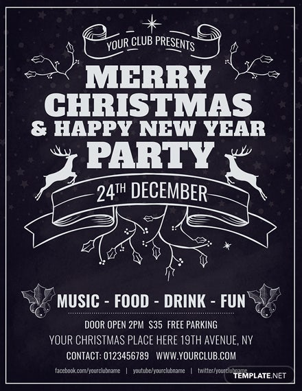 Free Minimal Christmas Flyer Template