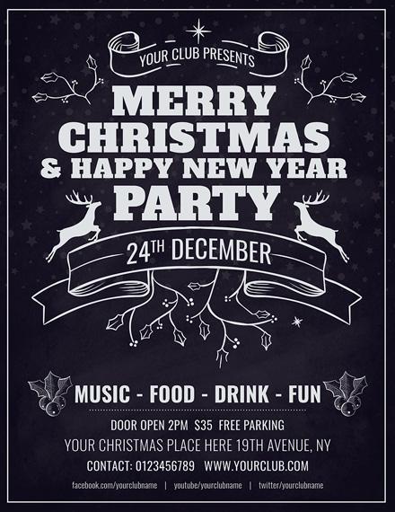 Free Minimal Christmas Flyer Template