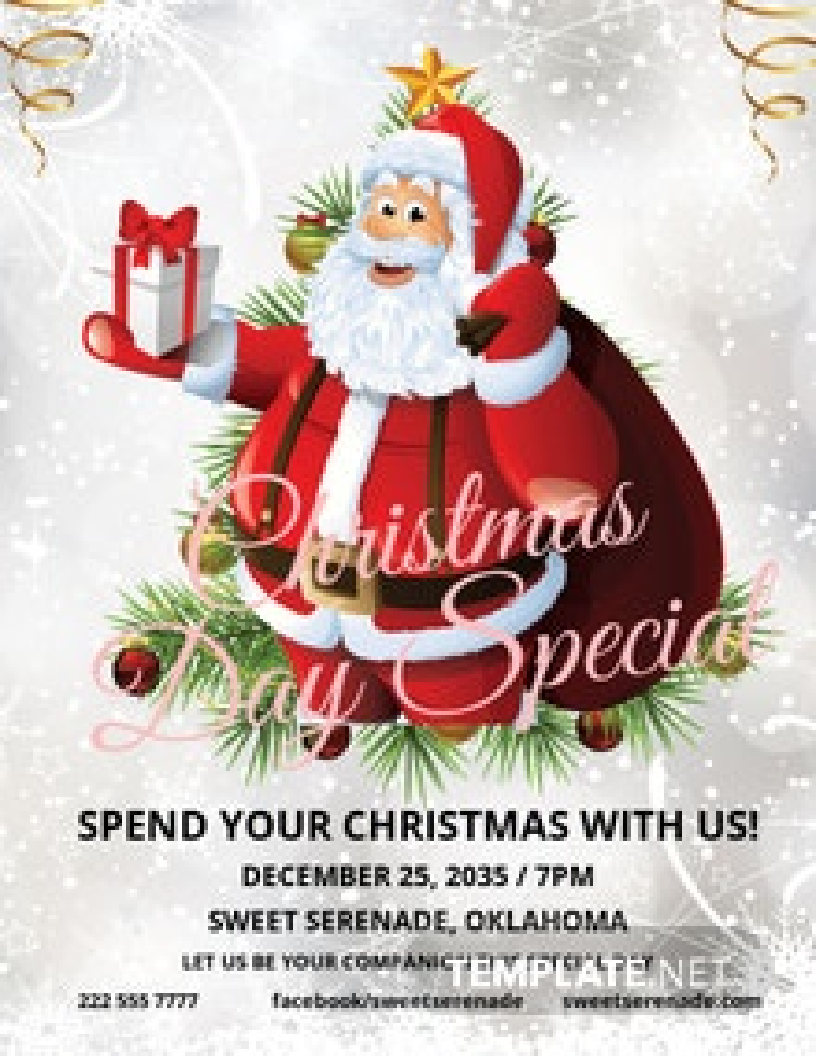 Free Modern Christmas Flyer Template