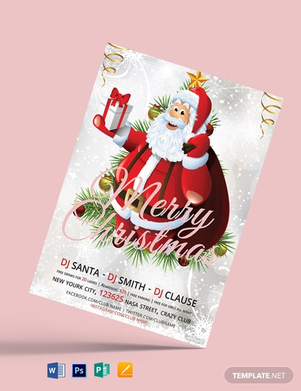 Free Modern Christmas Flyer Template