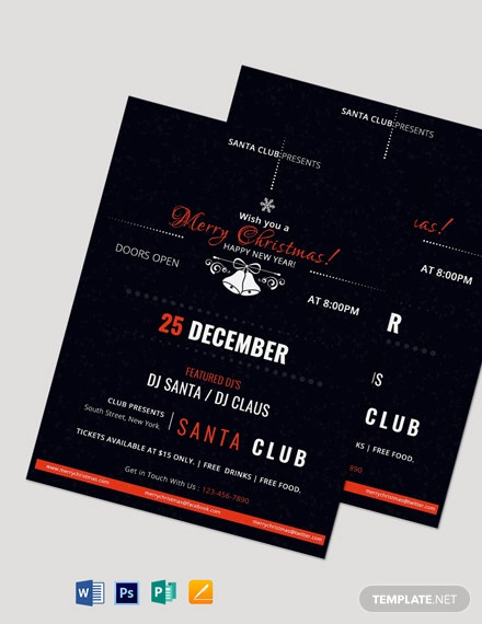 Free Christmas Event Flyer Template