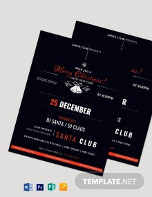 Christmas & New Year Party Flyer Template