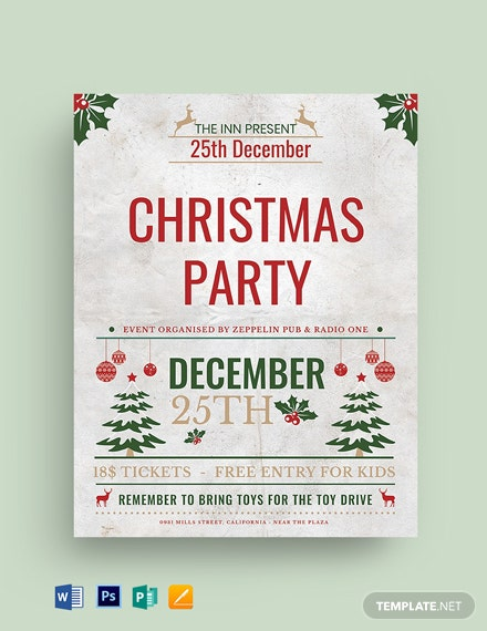 Christmas Event Party Flyer Template