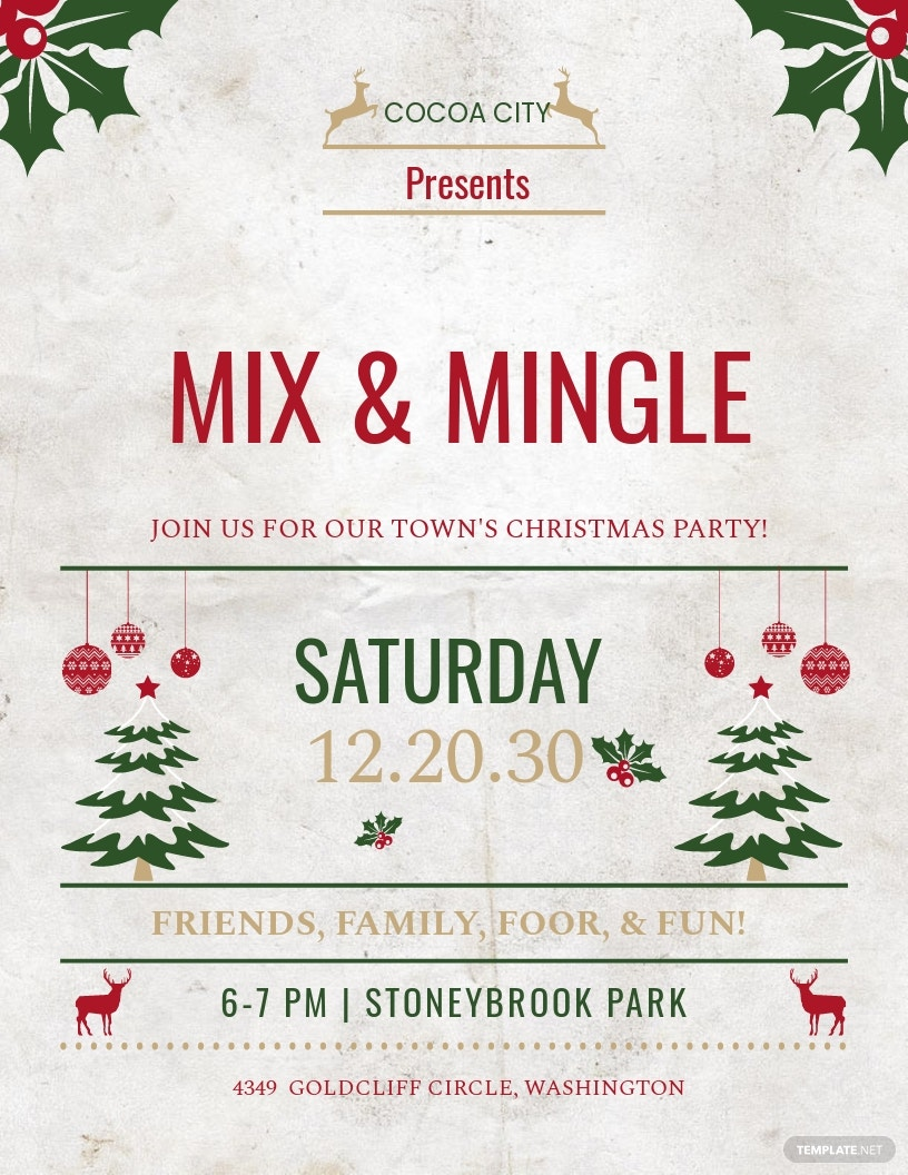 Free Christmas Event Party Flyer Template.jpe