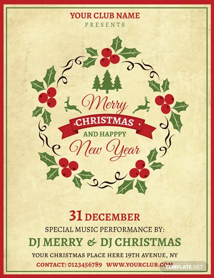 Free Simple Christmas Flyer Template