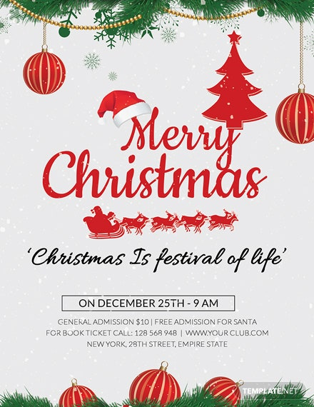 Free Christmas Holiday Flyer Template