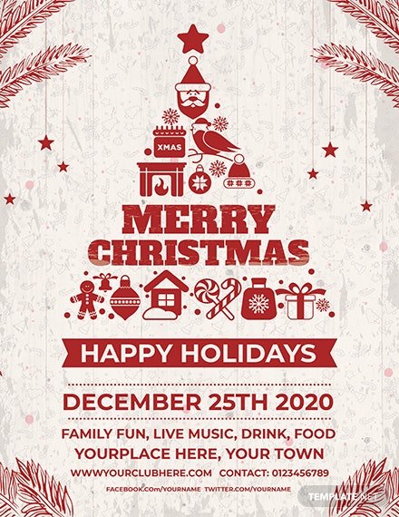 28 Free Psd Christmas Flyer Templates Download Ready Made
