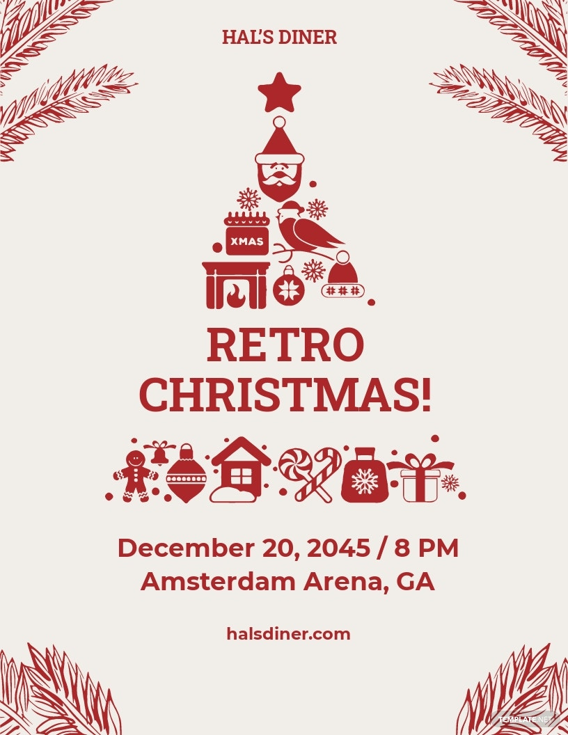 Retro Christmas Flyer Template.jpe