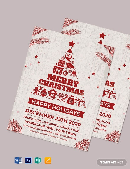 Free Retro Christmas Flyer