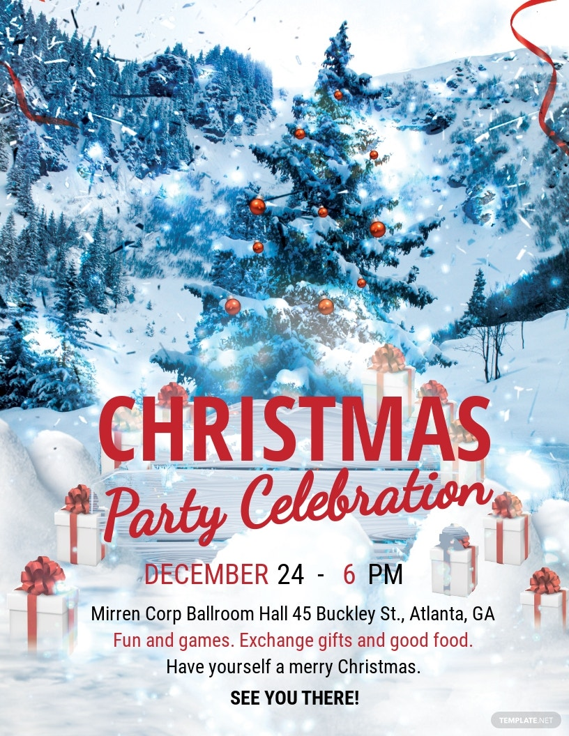 Modern Merry Christmas Flyer Template