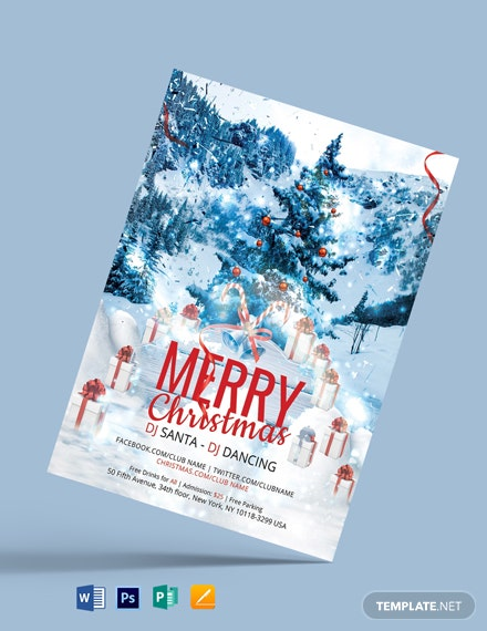 Free Modern Merry Christmas Flyer
