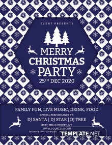 Free Creative Merry Christmas Flyer Template