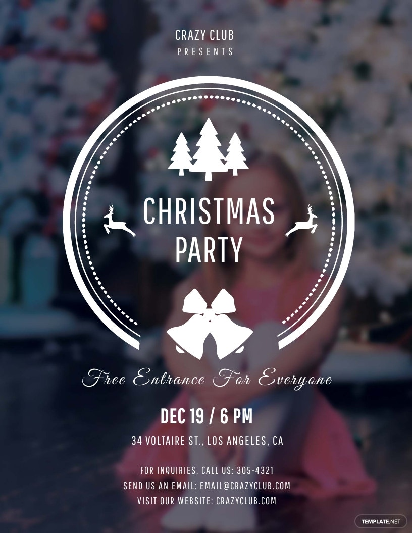 FREE Modern Christmas Party Flyer Template