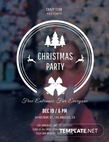 Free Modern Christmas Party Flyer