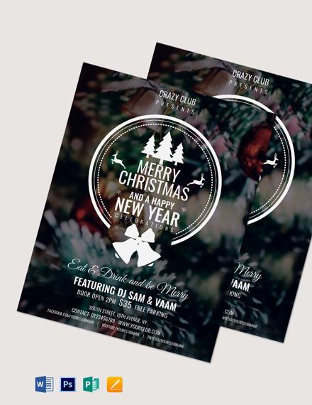 Modern Christmas Party Flyer Sample