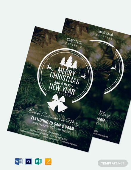 Modern Christmas Party Flyer Template