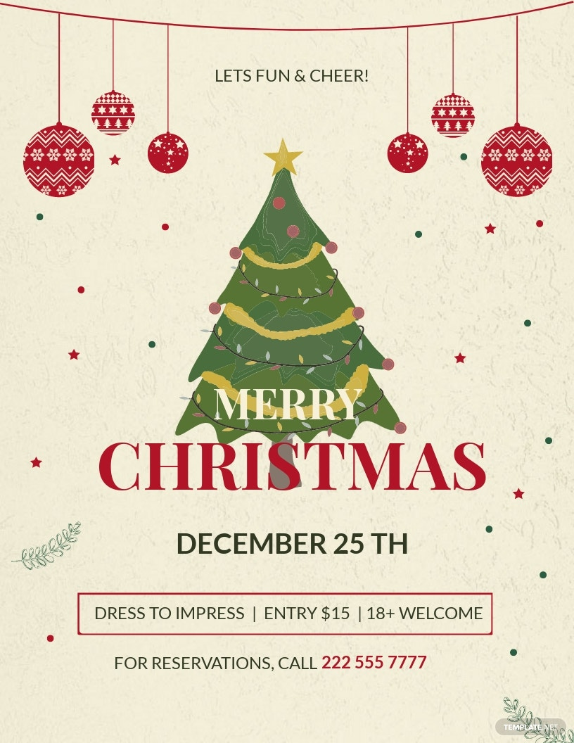 Christmas Party Promotion Flyer Template.jpe