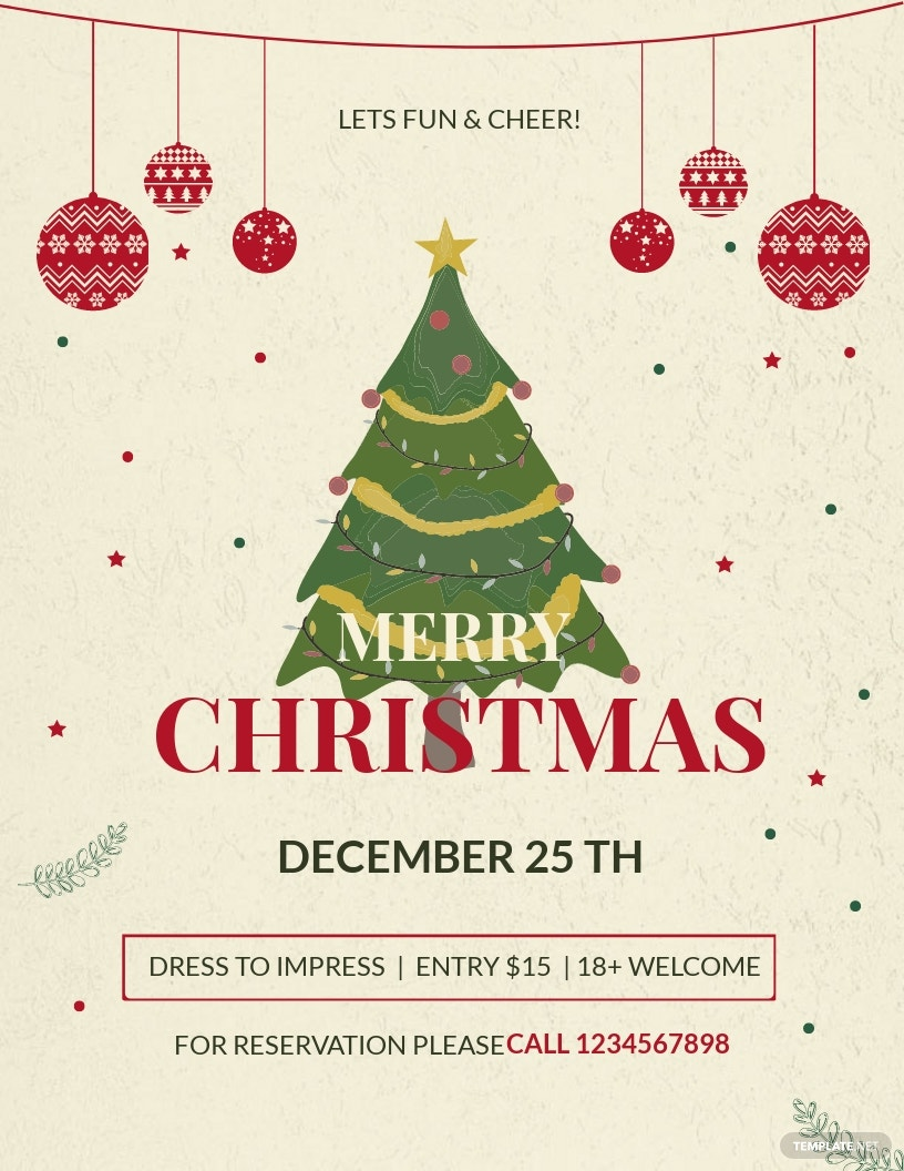 Christmas Party Promotion Flyer Template