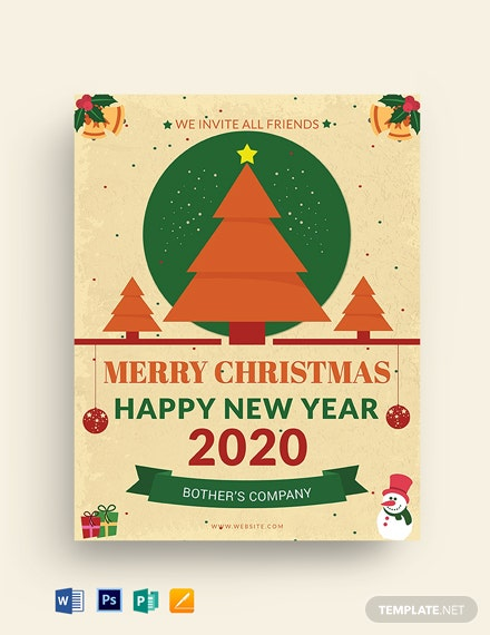 Free Office Christmas Party Flyer Template