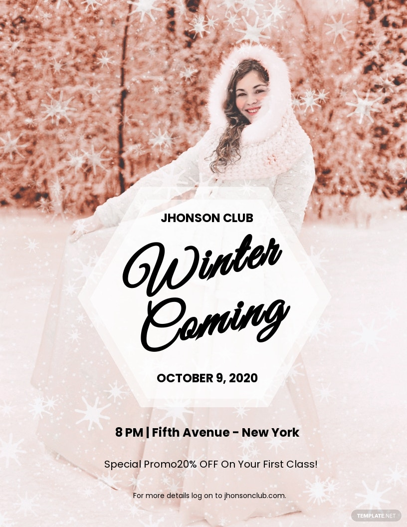 FREE Winter Christmas Party Flyer Template