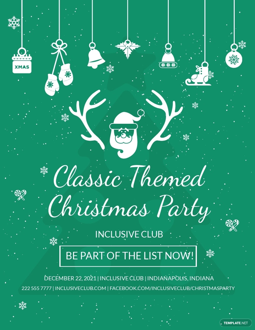 FREE Classic Christmas Flyer Template