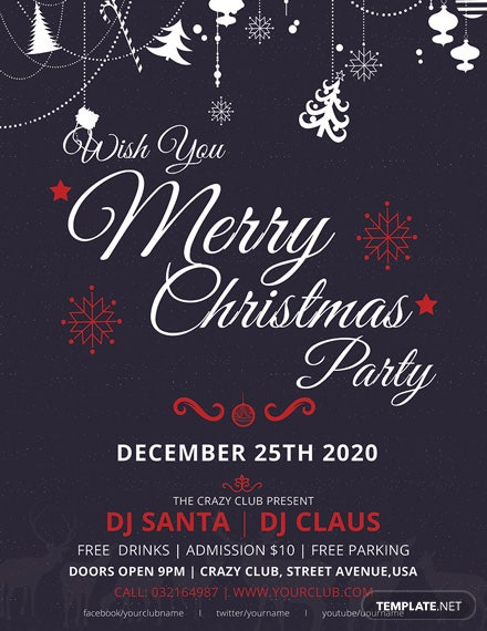 Elegant Merry Christmas Flyer Template