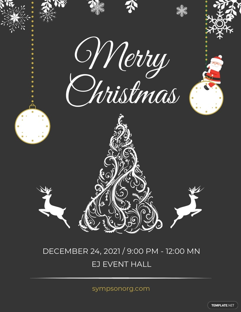 Vintage Merry Christmas Flyer Template