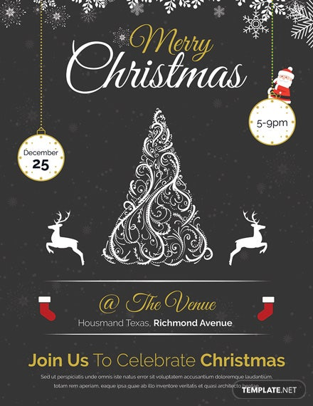 Free Vintage Merry Christmas Flyer Template