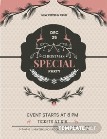 Free Merry Christmas Event Flyer Template